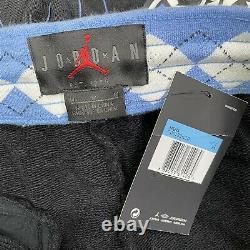 Nike Air Jordan NRG UNC North Carolina Tarheels Fleece Shorts Size M Mens Blue