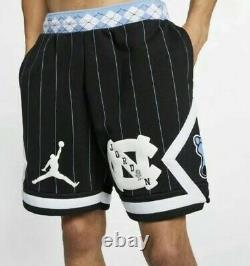 Nike Air Jordan NRG UNC North Carolina Tarheels Fleece Shorts Size XL Mens Blue