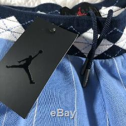 Nike Air Jordan NRG UNC North Carolina Tarheels Sz L Fleece Shorts CD0133-448