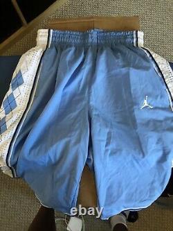 Nike Air Jordan North Carolina Tar Heels UNC Authentic Stitched Game Shorts M