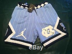 Nike Air Jordan Nrg Unc North Carolina Blu Tarheels Fleece Shorts Cd0133 010 M