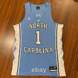 Nike Air Jordan UNC Carolina Tar Heels #1 STITCHED Basketball Jersey Size M