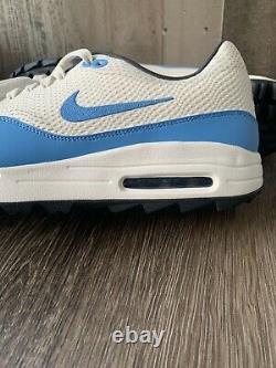 Nike Air Max 1 G Golf Shoes UNC Blue Tarheels CI7576-101 TW NRG Mens Size 14