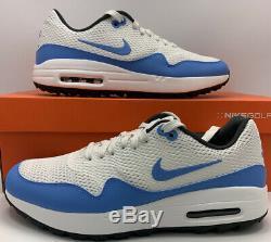 Nike Air Max 1 G Golf Shoes UNC Blue Tarheels CI7576-101 TW NRG Mens Size 9.5