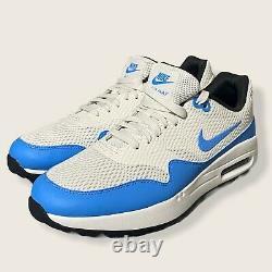 Nike Air Max 1 Golf Shoes White Blue (CI7576-101) Mens Size 12 UNC NEW