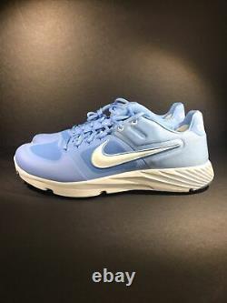 Nike Alpha Huarache Elite 2 Turf UNC North Carolina Tar Heels CU0149-402 Sz 12.5