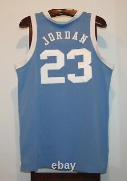 Nike Authentic Michael Jordan Unc Tar Heels Road Basketball Jersey Size 44