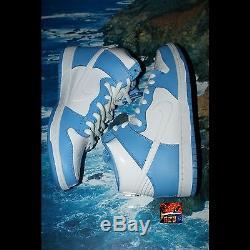 Nike Dunk High Premium SB BTTYS UNC Sz 12 University Blue Brand New Tarheels DS