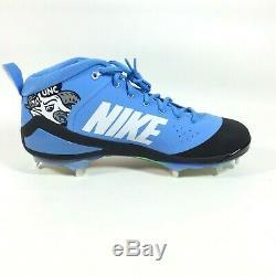 Nike Force Zoom Trout 4 North Carolina UNC Tar Heels Metal Baseball Cleats 11.5