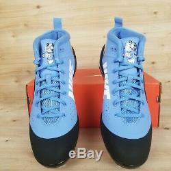 Nike Force Zoom Trout 4 Pe Promo Unc Ah7577 Tar Heels Baseball Men's Sz 11.5