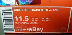 Nike Free Trainer 5.0 V6 Amp Unc Tarheels Blue White Rare 723939-402 (size 11.5)