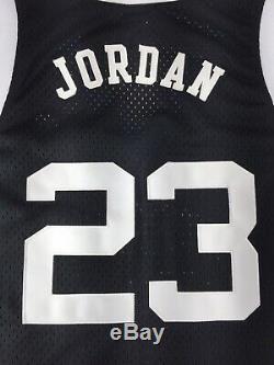 Nike Jordan 23 UNC Tar Heels 82 Jersey 2003 (Black/White/Blue) Size L