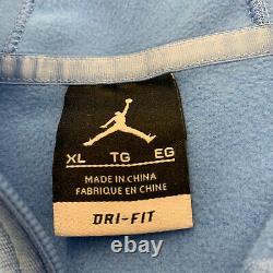 Nike Jordan Dri Fit North Carolina UNC Tar Heels Elite Basketball Hoodie Mens XL