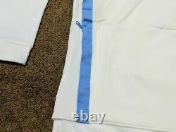 Nike Jordan Half Zip Long Sleeve Fleece Hoodie UNC Tarheels AQ8933-100 Sz L
