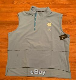 Nike Jordan Shield UNC Carolina Tar Heels 23 Tech 1/4-Zip Vest Jacket NWT 3XL