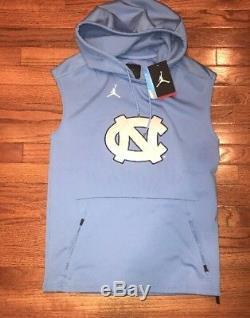 Nike Jordan UNC Carolina Tar Heels Tech Sleeveless Hoodie Small NWT $160 Blue
