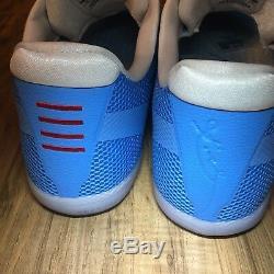 Nike Kobe XI 11 TB Promo UNC Carolina Blue Tar Heels Shoes 856485-443 Sz 15 Rare