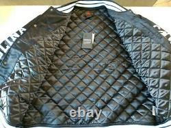 Nike Men's Jordan UNC Tarheels Black Satin Bomber Jacket XL BV3927-010 NWT
