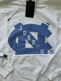 Nike Mens Air Jordan X UNC Tar Heels NRG hoodie white Blue Size XL BV3954-100