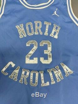 Nike Michael Jordan North Carolina Authentic Blue Jersey Sz XXL UNC Tarheels