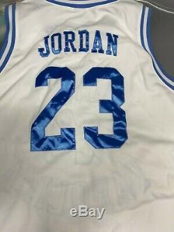 Nike Michael Jordan North Carolina Authentic White Jersey Sz XXL UNC Tarheels