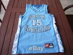 Nike Vince Carter North Carolina UNC Tar Heels Authentic Jersey sz. 40 vtg