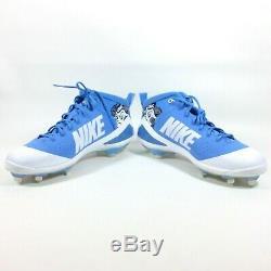 Nike Zoom Trout 4 North Carolina Tar Heels UNC PE Metal Baseball Cleats Size 14