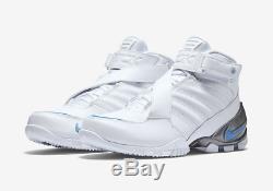 Nike Zoom Vick 3 III White Blue UNC Tar Heels Colorway Men's 15 832698-100