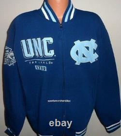 North Carolina Tar Heels Fleece Jacket By RR Designs Adult XL Free Ship UNC