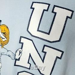 North Carolina Tar Heels Sweatshirt Vintage 80s UNC Ramses Made In USA Size XL