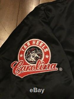North Carolina Tar Heels UNC Colosseum NCAA Satin Bomber Jacket Mens XL Asian OG