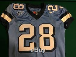 North Carolina Tar Heels UNC Game Worn BLUE Football Jersey #28 Size 48 NIKE