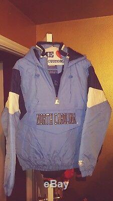North Carolina Tarheels Throwback Pullover Parka Starter Jacket Large New! UNC