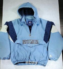 North Carolina Tarheels Throwback Pullover Parka Starter Jacket XL RARE! UNC