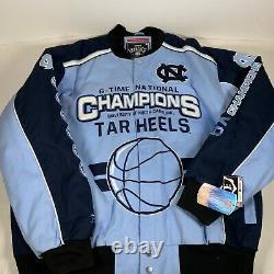 North Carolina UNC Tar Heels 6-Time National Basketball Champions Jacket NEW XL