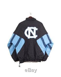 North Carolina UNC Tar Heels 90s Black Starter Jacket Mens XL Vintage