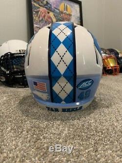North Carolina UNC Tar Heels Custom Riddell Revolution Speed Football Helmet