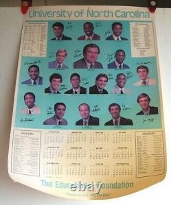 Original UNC TAR HEELS 1983-84 BASKETBALL CALENDAR POSTER Michael Jordan vintage