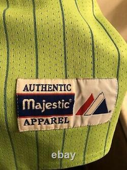 RARE Majestic North Carolina Tar Heels UNC Baseball Jersey LIME GREEN UNISEX XXL