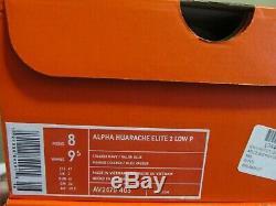 RARE UNC Nike Alpha Huarache Elite 2 PE Carolina Tar Heels 8 AV2470 403 Cleats