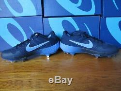 RARE UNC Nike Alpha Huarache Elite 2 PE Carolina Tar Heels 9.5 AV2470 403 Cleats