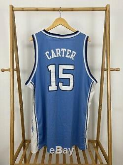 RARE VTG Nike UNC North Carolina Vince Carter #15 Tar Heels Jersey Size 3XL +2