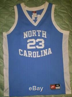 Rare Vintage Nike UNC Carolina Tar Heels 90s sewn Jordan Bball Jersey mens xl 48