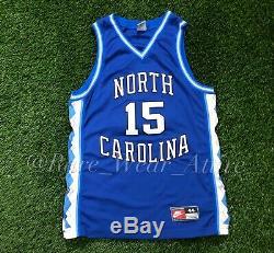 5df139384f6 Rare Vtg Nike Unc North Carolina Tar Heels Vince Carter Basketball Jersey  Sz 44