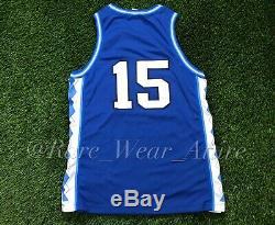 Rare Vtg Nike UNC North Carolina Tar Heels Vince Carter Basketball Jersey Sz 44