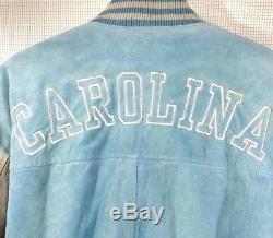 Red Oak Sportswear Carolina Tar Heels Suede Varsity Jacket Sz XL Coat Bomber UNC