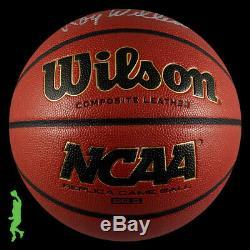 Roy Williams Autographed Signed Ncaa Basketball Ball Unc Tar Heels Jsa Coa