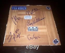 Roy Williams, Luke Maye, Coby White, Nassir Little Autograph UNC Tar Heels Board