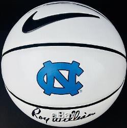 Roy Williams Signed Nike North Carolina Tar Heels Logo Basketball Unc Coa Proof