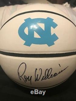 Roy Williams Signed North Carolina Tar Heels Logo Basketball Unc Coa Proof